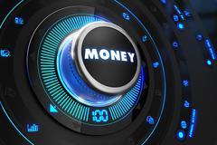 Money Controller on Black Control Console - stock illustration