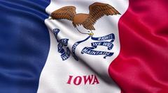 4K Iowa state flag seamless loop Ultra-HD Stock Footage