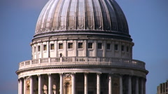 St Pauls cathedral, the River Thames and the Millennium footbridge London Stock Footage