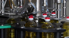 Machinery For Bottling Sunflower Oil - stock footage