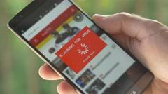 4K Scanning Virus App Smartphone Screen Stock Footage