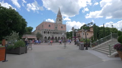 The Italy Pavilion at Walt Disney World in Orlando Stock Footage