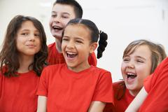 Group Of Children Enjoying Drama Class Together Stock Photos