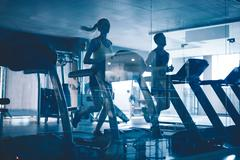 Treadmill workout Stock Photos
