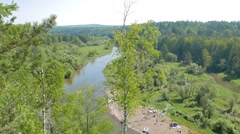 River Valley of Serga. Urals, Russia. 1280x720 Stock Footage