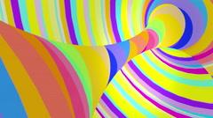 Multicolored motion torus. Loop animation. Stock Footage