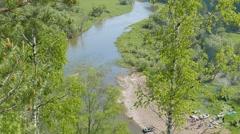 River Serga. SVERDLOVSK REGION, Russia. 1280x720 Stock Footage
