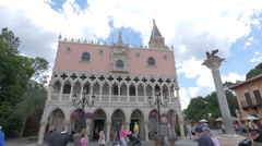 The Doge's Palace of Venice at the Walt Disney World Resort in Orlando Stock Footage