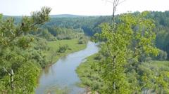 River Valley of Serga. SVERDLOVSK REGION, Russia. 1280x720 Stock Footage