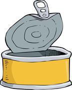 Yellow tin Stock Illustration