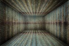 Stock Illustration of Abstract Urban Metal Interior Grunge Room Stage Background