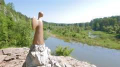 Angel of Hope, Urals, Russia. 4K Stock Footage