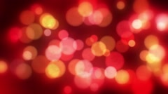 Bokeh red blur background Stock Footage