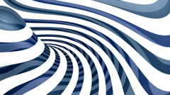 Blue and white torus loop animation. Stock Footage