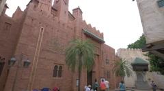 Arabian Castle at the Walt Disney World Resort, Orlando - stock footage
