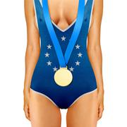 Stock Photo of Euro body with medal