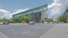 University Of Toronto Sign Harbord Spadina Intersection Wide Stock Footage