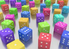 Dice colors random Stock Illustration