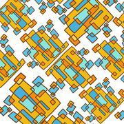 Rectangle abstract art pattern - stock illustration