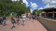 The Mexican Pavilion of Walt Disney World Resort, Orlando Stock Footage