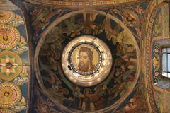 Jesus fresco on the ceiling the church Kuvituskuvat