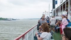People on the Open Decks of the Steamboat Natchez Stock Footage