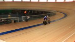 Pursuit cycle race - stock footage