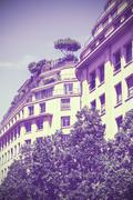 Vintage old film stylized apartment. Stock Photos