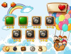 Games Stock Illustration