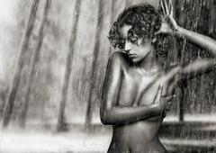 Fine art photo- young woman - stock photo