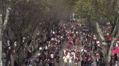 Parade of the Roman games in France Stock Footage