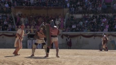 Gladiatorial combat in arena Roman games 1 Stock Footage