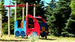 Playground in the children's sanatorium Stock Footage