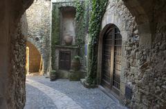 Medieval, Pals, Girona, Catalonia, Spain Stock Photos