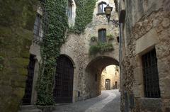 Medieval, Pals, Girona, Catalonia, Spain - stock photo