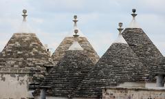 Murge  Puglia, Italy  - Characteristic trulli near countryside Alberobello Stock Photos