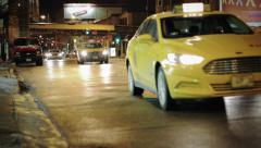 Cars on City Street at Night - stock footage
