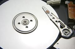 Hard disk, computer - stock photo