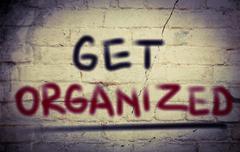 Get Organized Concept - stock illustration