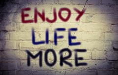 Enjoy Life More Concept Stock Illustration