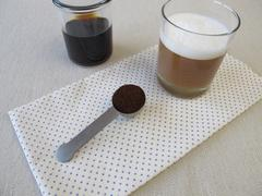 Cold-brewed coffee with milk foam Stock Photos