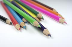Crayons, back to school, pencils - stock photo