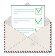 Stock Illustration of Approved message on white background
