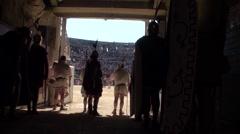 Gladiators' presentation in arena Stock Footage