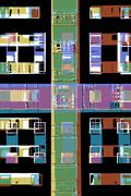 Abstract city apartments Stock Illustration
