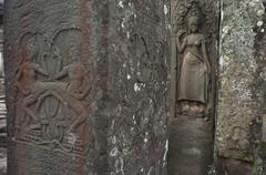 Bayon, Angkor Wat, Siem Reap, Cambodia. Stock Photos