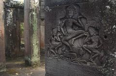 Bayon, Angkor Wat, Siem Reap, Cambodia. - stock photo