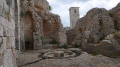 Castle of Salah ad-Din in Syria - stock photo