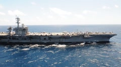 USS Carl Vinson (CVN 70) Conducts Maritime Operations Stock Footage