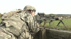 2-12 Cav Conducts Squad Live Fire Training Stock Footage